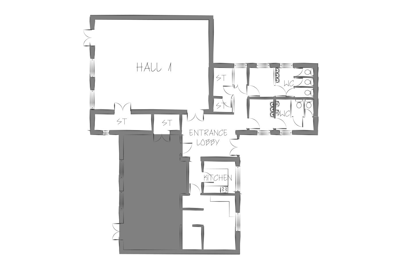 Bellinge community centre floor plan