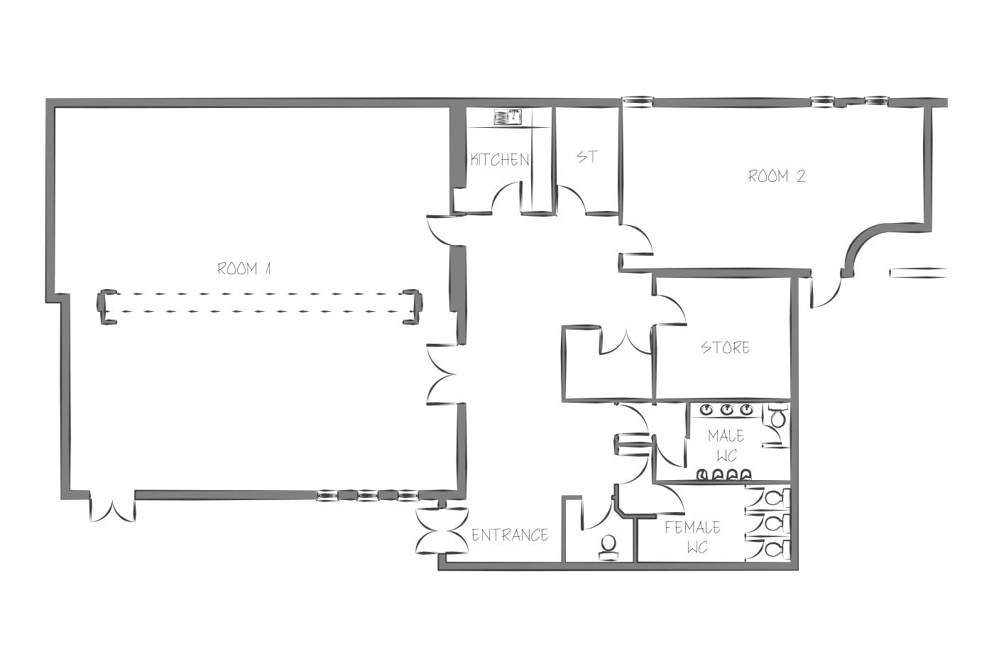 Briar Hill community centre floor plan