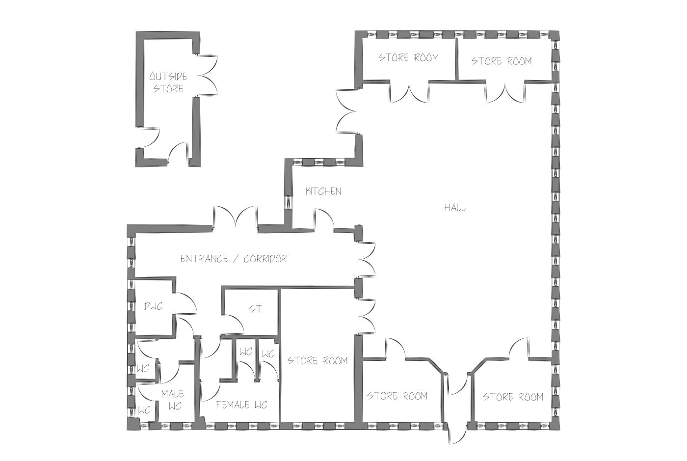 Kingsthorpe community centre floor plan