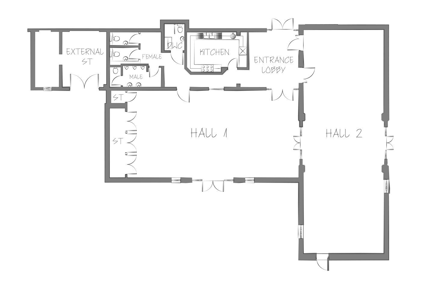 Rectory Farm community centre floor plan