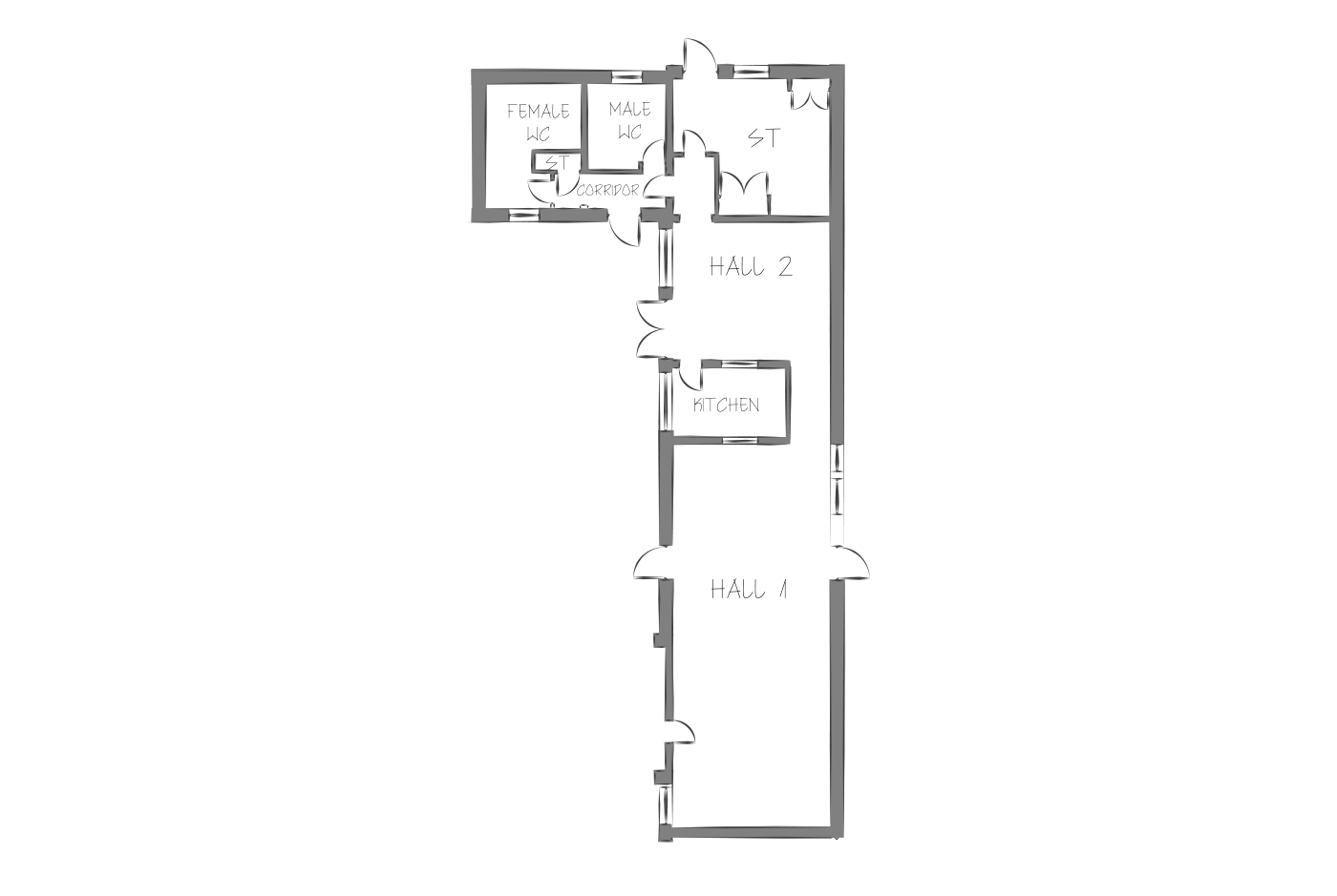 Southfields community centre floor plan