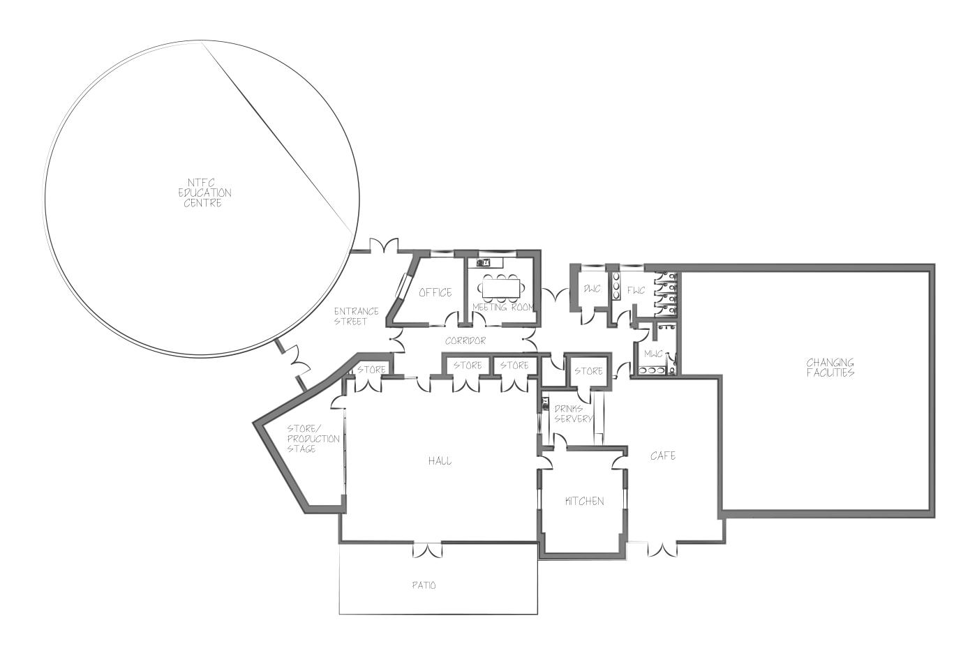 St Crispins community centre floor plan