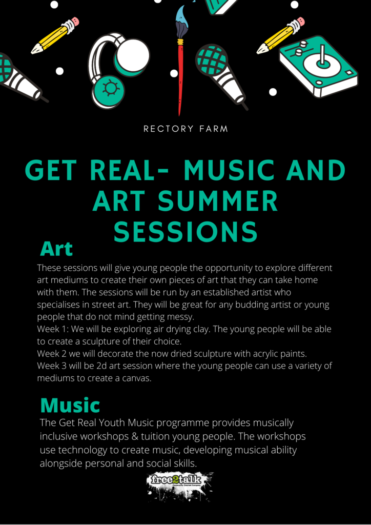 Programme of summer activities for young people at Rectory Farm Community Centre